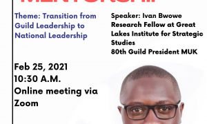 STUDENT LEADERS' MENTORSHIP ON THE TRANSITION FROM GUILD LEADERSHIP TO NATIONAL LEADERSHIP.