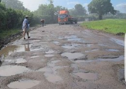 Salama road in a terrible condition