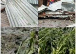 Strong hail storm destroys houses and property in Moroto district.